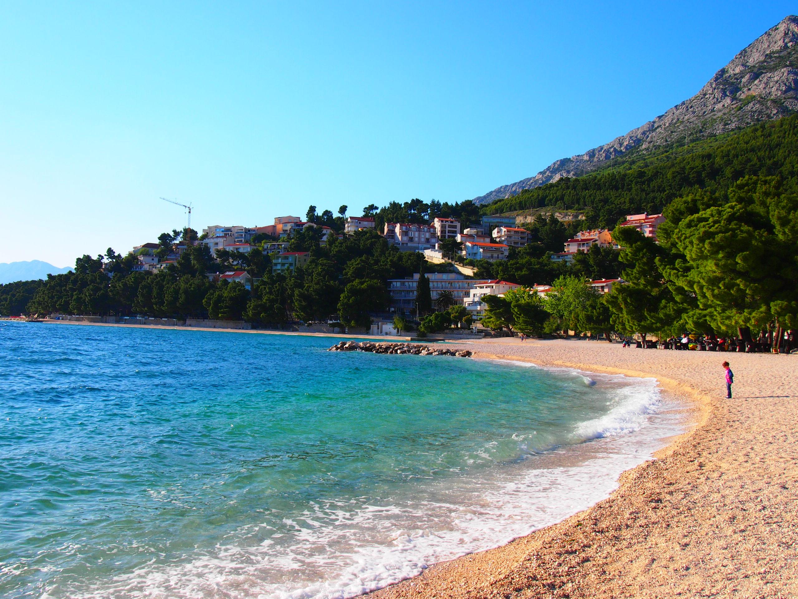beach in Baška Voda
