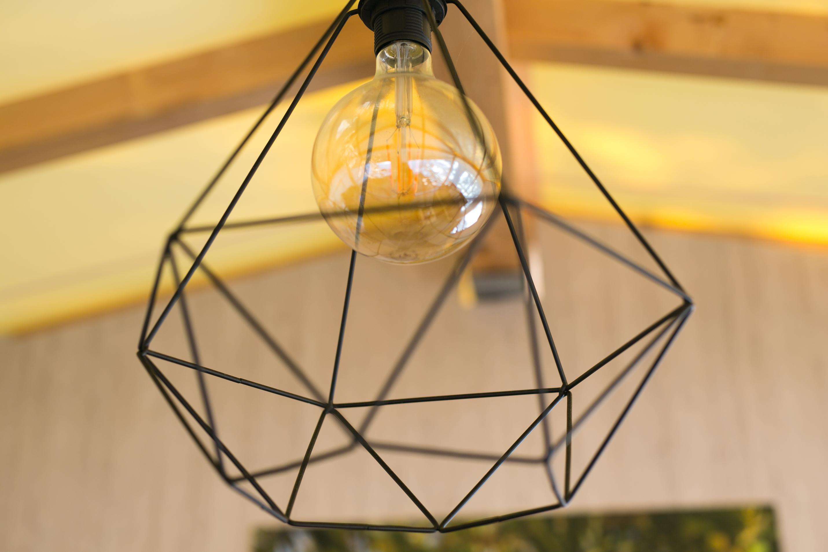 design interior in glamping tent