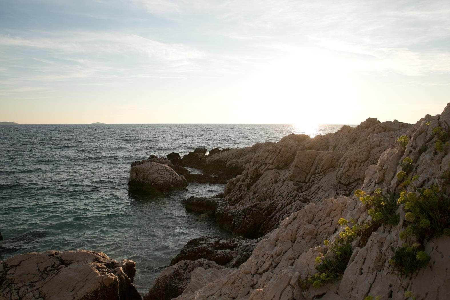 Primosten beach view