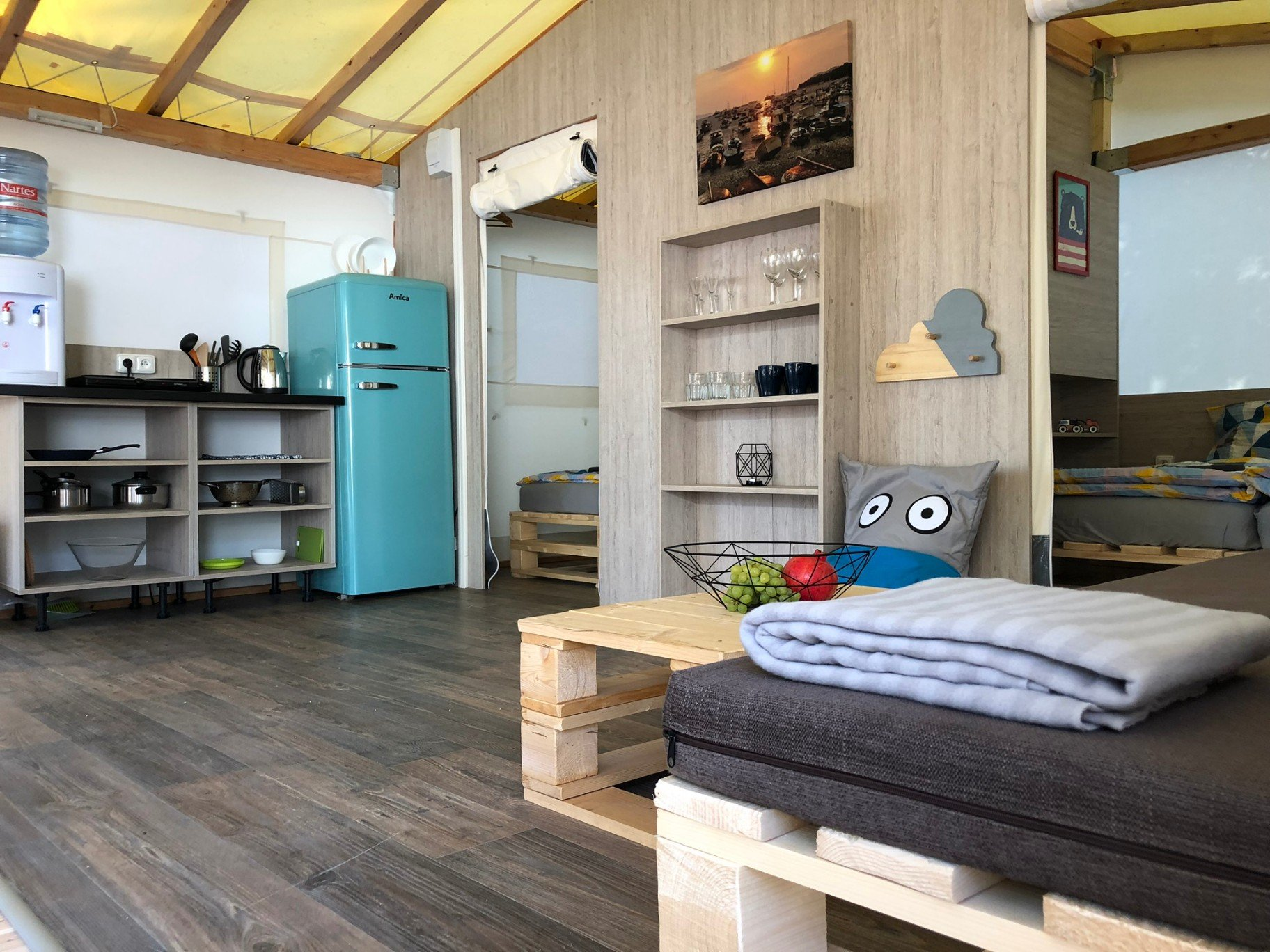 kids friendly glamping tent camp park soline