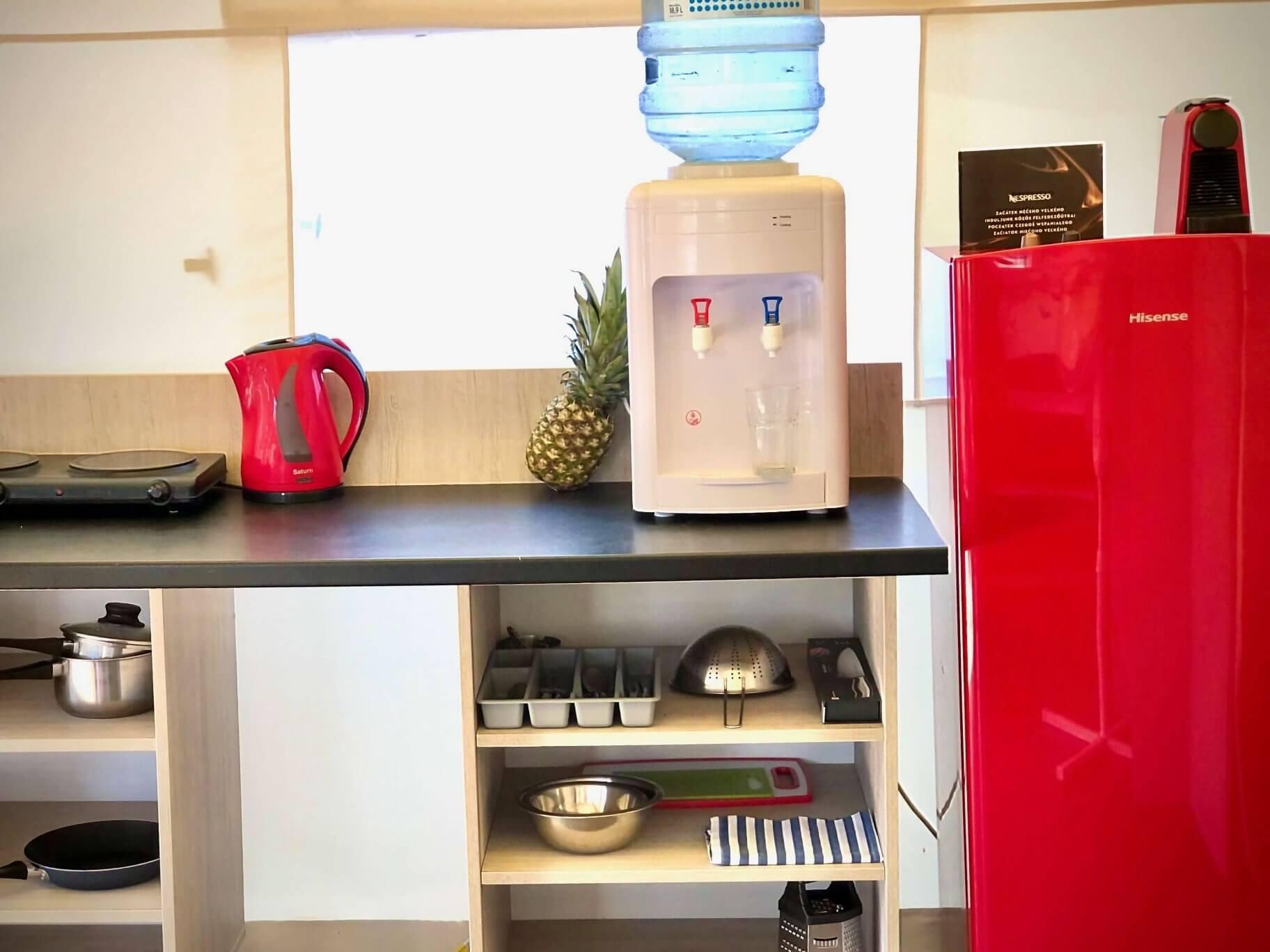 small kitchen in glamping tent mali losinj camp cikat