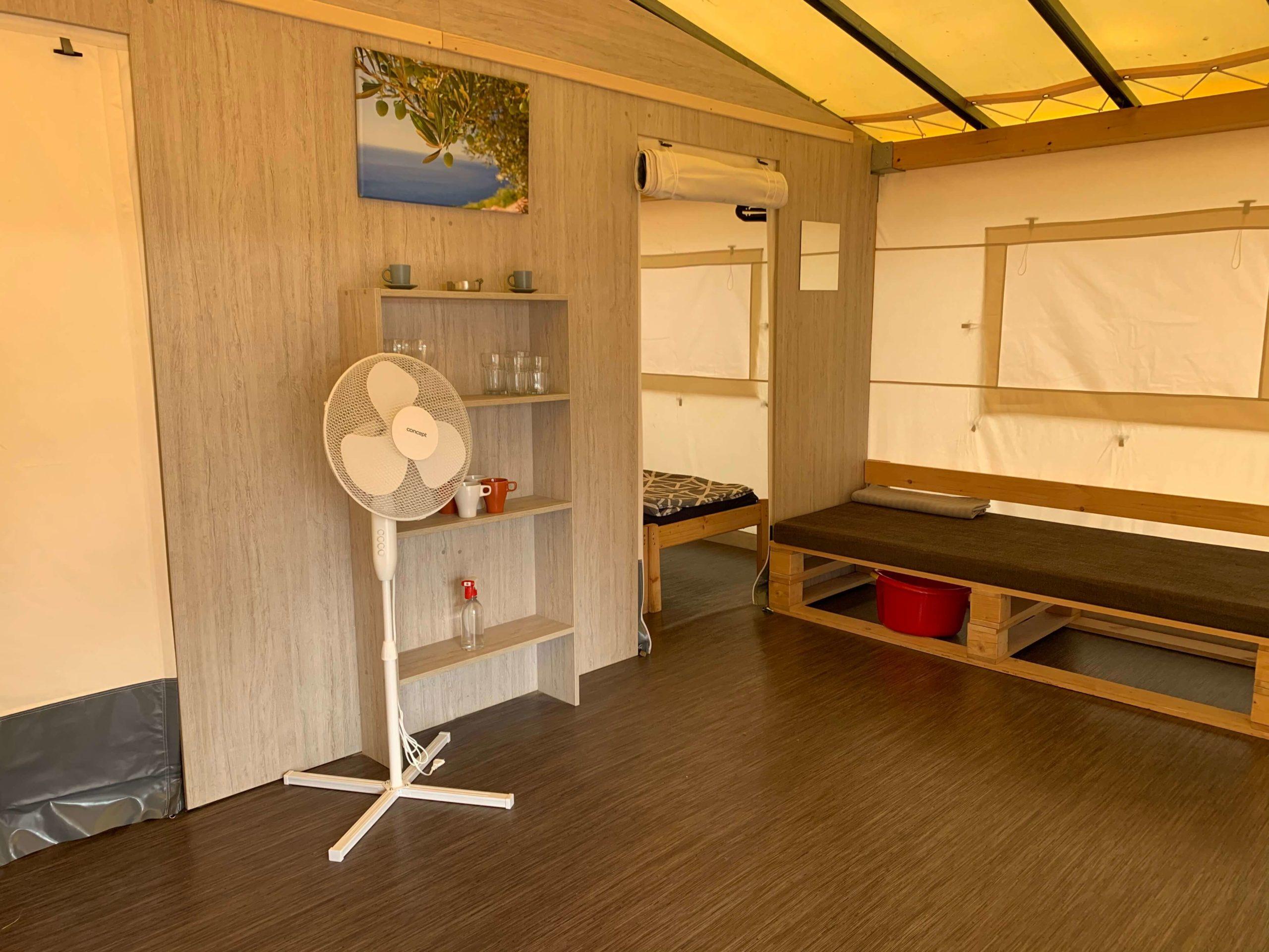interior glamping tent Primošten